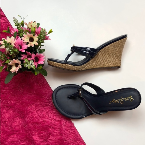073f1fba8f1 Lilly Pulitzer Shoes - Lilly Pulitzer Navy McKim Wedge Sandals